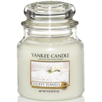 Serviettes Moelleuses bougie parfumée moyenne jarre YANKEE CANDLE