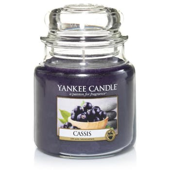 Cassis bougie parfumée moyenne jarre YANKEE CANDLE