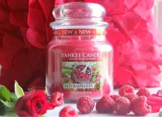 Framboise bougie parfumée moyenne jarre YANKEE CANDLE
