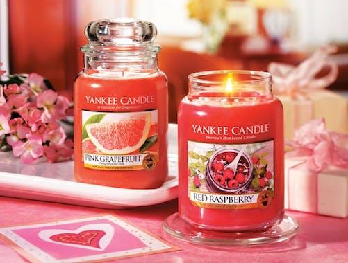 Framboise rouge bougie parfumée grande jarre YANKEE CANDLE