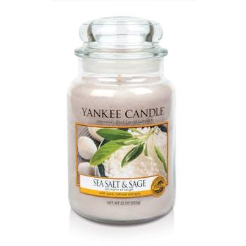 Sel marin et sauge bougie parfumée moyenne jarre YANKEE CANDLE