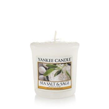 Sel marin et sauge bougie parfumée votive YANKEE CANDLE