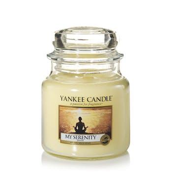 Sérénité bougie parfumée moyenne jarre YANKEE CANDLE