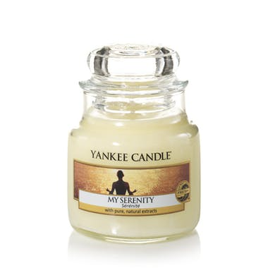Sérénité bougie parfumée petite jarre YANKEE CANDLE
