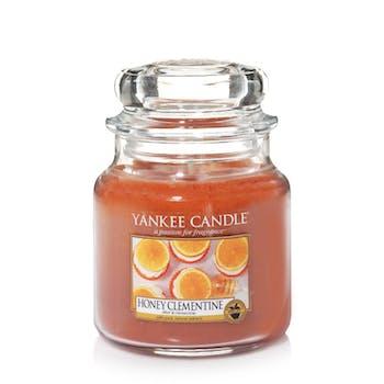 Miel et clémentine bougie parfumée moyenne jarre YANKEE CANDLE