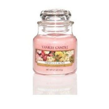 Roses fraichement coupées bougie parfumée petite jarre YANKEE CANDLE