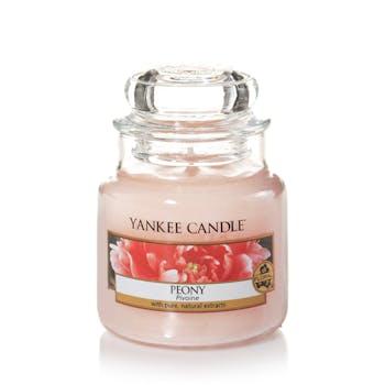 Pivoine bougie parfumée petite jarre YANKEE CANDLE