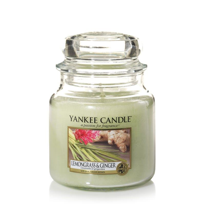 Citronnelle et gingembre bougie parfumée moyenne jarre YANKEE CANDLE