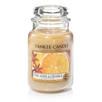 Anis étoilé et orange bougie parfumée moyenne jarre YANKEE CANDLE