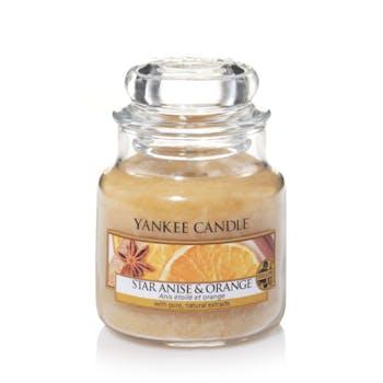 Anis étoilé et orange bougie parfumée petite jarre YANKEE CANDLE