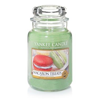 Macarons gourmands bougie parfumée grande jarre YANKEE CANDLE