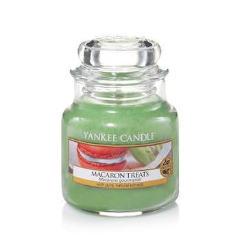 Macarons gourmands bougie parfumée petite jarre YANKEE CANDLE