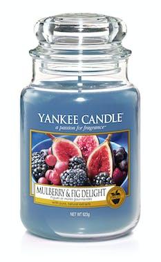 Figues et Mûres Gourmandes bougie parfumée grande jarre YANKEE CANDLE