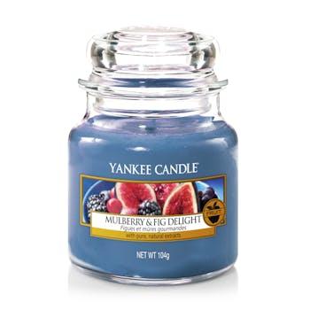Figues et Mûres Gourmandes bougie parfumée petite jarre YANKEE CANDLE