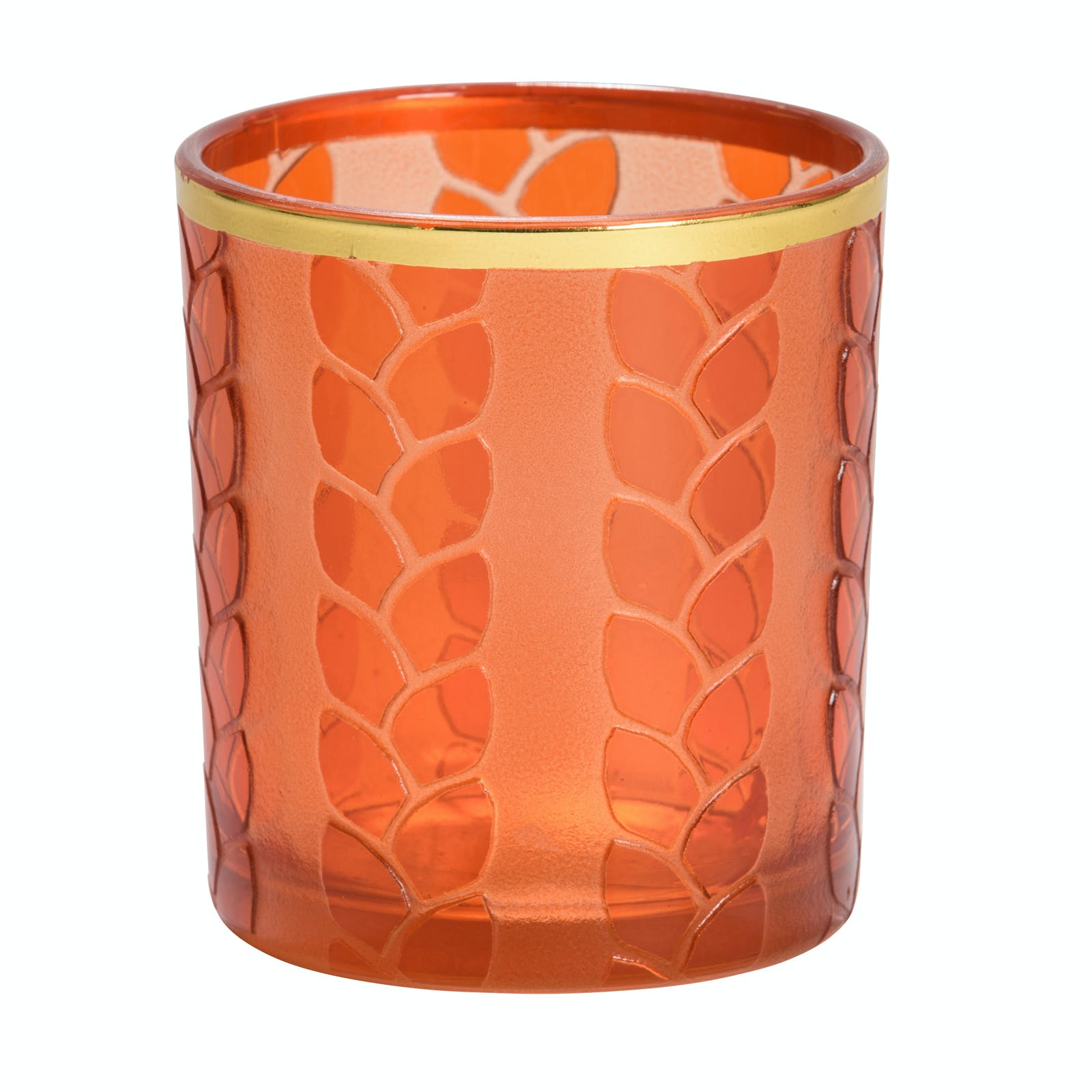 Photophore Orange MAIZE & METAL pour votive YANKEE CANDLE