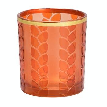 Photophore Orange MAIZE & METAL pour votive YANKEE CANDLE