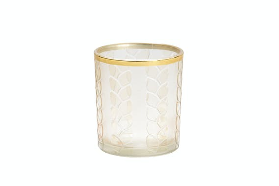 Photophore Beige MAIZE & METAL pour votive YANKEE CANDLE