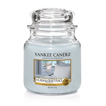 Havre de paix bougie parfumée moyenne jarre YANKEE CANDLE