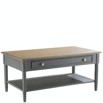 Table basse chêne grisé 1 tiroir LEON H50XL110XP60CM AMADEUS