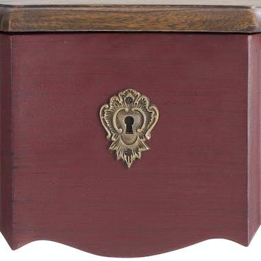 Console Baroque rouge 1 tiroir VICTORIA 2