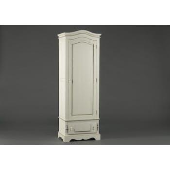 Bonnetière ancienne blanche en bois 1 tiroir Classique chic ORNEMENT L 65 x P 45 x  H 185 AMADEUS