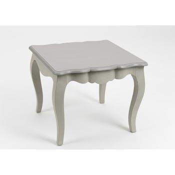 Bout de canapé bois gris baroque romantique Grand Siècle  L40xP50xH50 AMADEUS