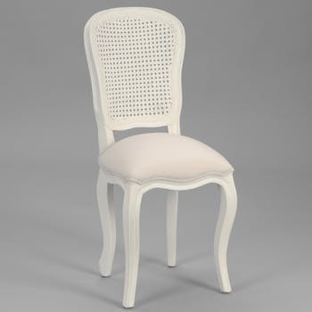 Chaise baroque crème antique et bois MURANO L40xP50xH96 AMADEUS