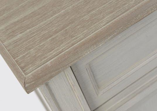 Console drapier grise bois vieilli 120 cm 2 tiroirs EDOUARD L 120 x P 30 x  H 80 AMADEUS