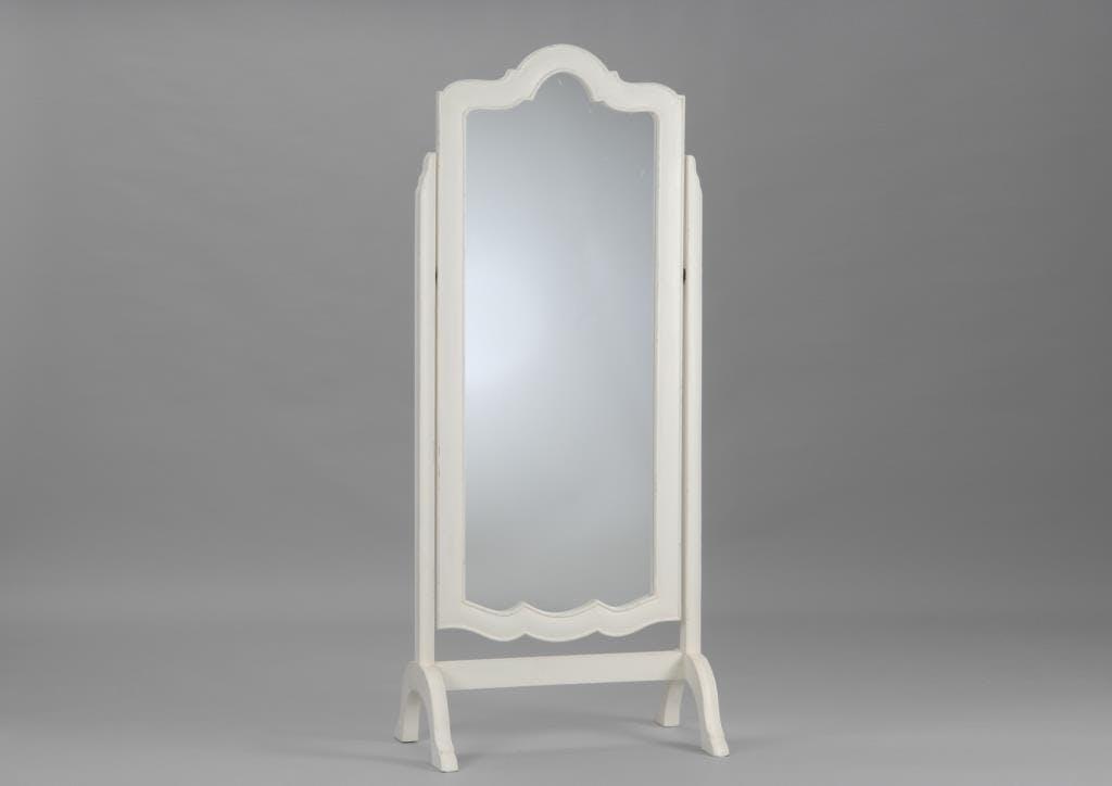 Miroir psyché crème antique baroque en bois MURANO L75xP50xH170 AMADEUS
