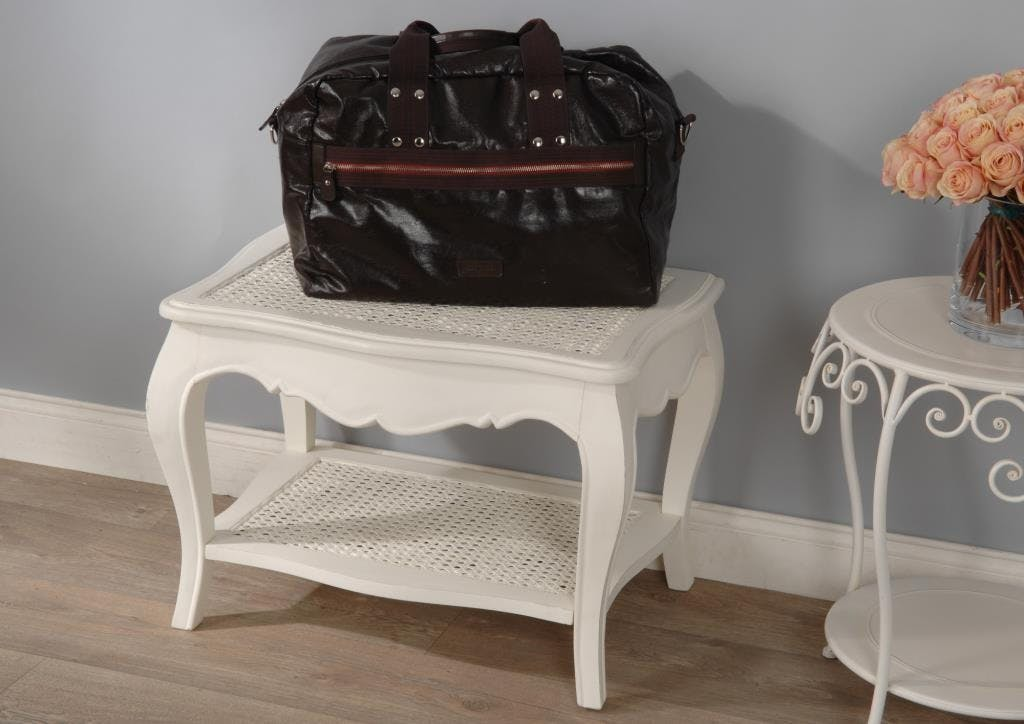Porte valise canné crème antique MURANO L65x P45xH45 AMADEUS