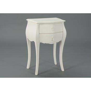 Table d'appoint baroque crème antique 2 tiroirs MURANO L50xP35xH75 AMADEUS