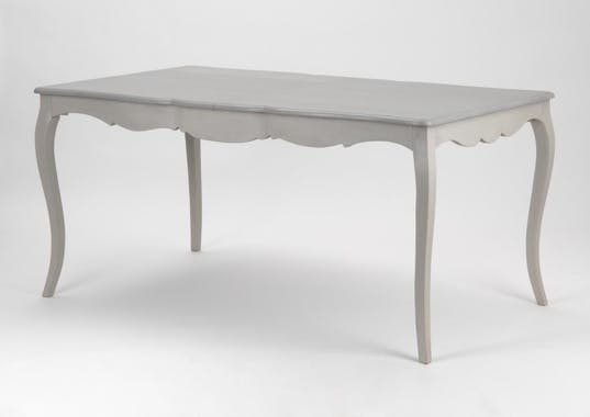 Table de repas extensible 160/200 cm bois gris baroque GRAND SIECLE AMADEUS