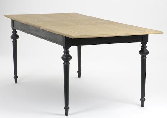 Table de repas extensible bois noir NEW LEGENDE L160/200xP90xH76 AMADEUS