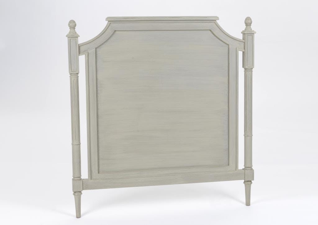 Tête de lit 1 place en bois gris classique chic EDOUARD L102 x H105 AMADEUS