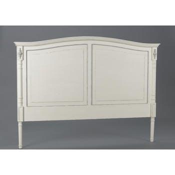 Tête de lit ancienne bois blanc classique chic ORNEMENT L170xH125 AMADEUS