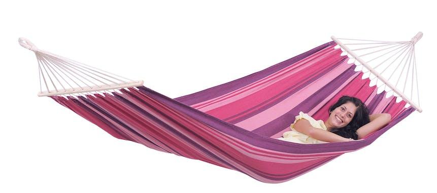 Hamac de jardin XL TONGA Candy Rose violet 200x100cm AMAZONAS