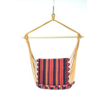 Hamac chaise suspendu BELIZE Vulcano Rose rouge 104x56cm AMAZONAS