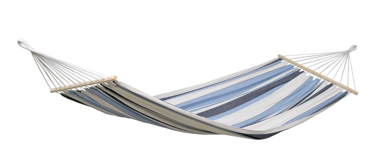Hamac de jardin XL SAMBA Marine Bleu blanc 210x140cm AMAZONAS