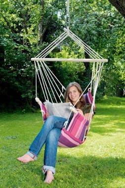 Hamac chaise suspendu PALAU Candy Rose violet 120x50cm AMAZONAS