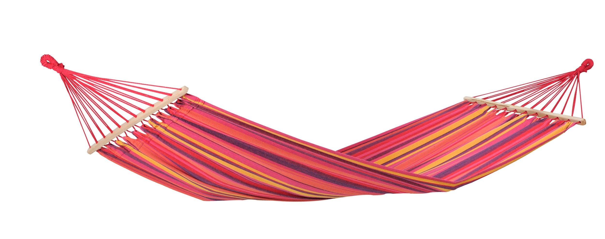 Hamac de jardin XL TONGA Vulcano Rose rouge 200x100cm AMAZONAS