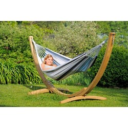 Hamac avec support bois 2 places APOLLO SET Marine 210x140cm AMAZONAS