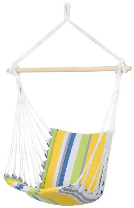 Hamac chaise suspendu BELIZE Kolibri Vert bleu 104x56cm AMAZONAS
