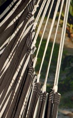 Hamac chaise suspendu BRASIL Mocca Marron blanc 160x130cm AMAZONAS
