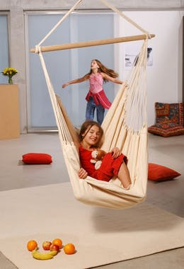 Hamac chaise suspendu BRASIL Natura Blanc 160x130cm AMAZONAS