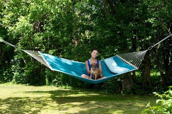 Hamac de jardin 2 places AMERICAN DREAM Pétrole 200x120cm AMAZONAS