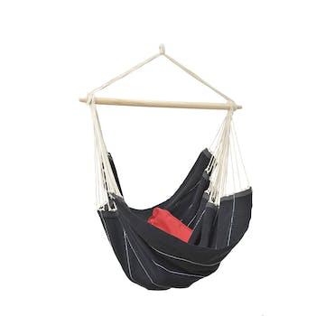 Hamac chaise suspendu BRASIL black Noir 160x130cm AMAZONAS