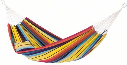 Hamac de jardin 2 places BARBADOS Rainbow Jaune 230x150cm AMAZONAS
