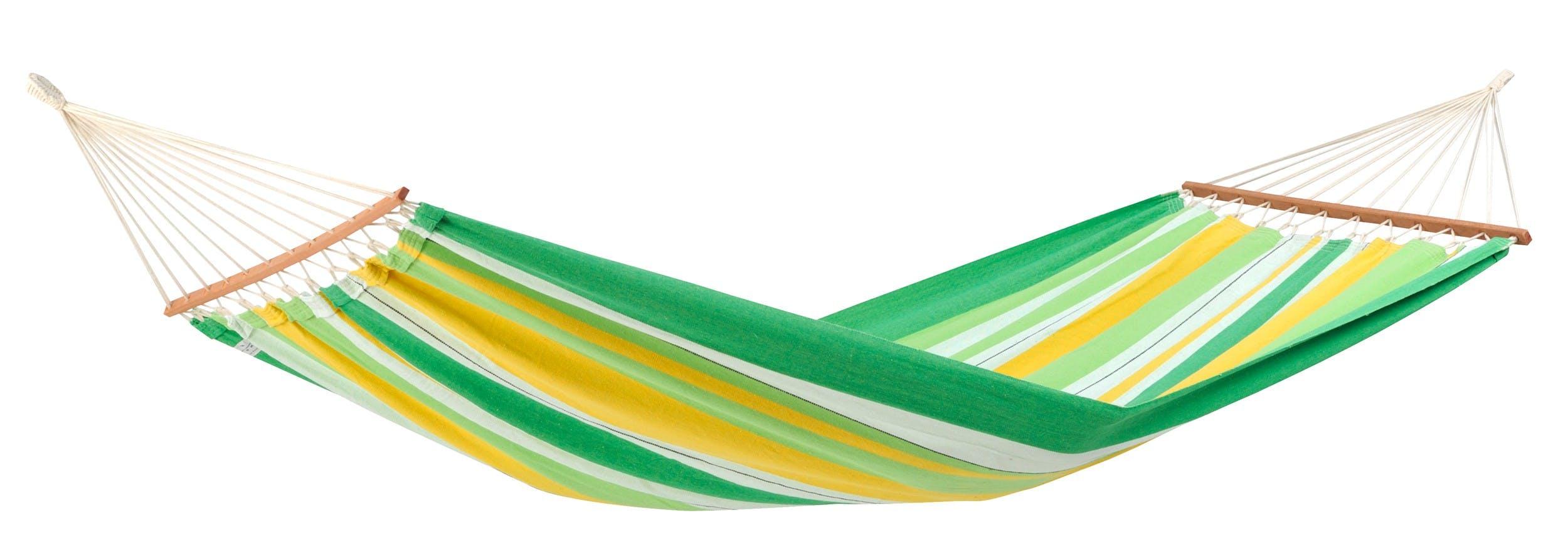 Hamac de jardin 2 places BRASILIA Apple Vert jaune 310x100cm AMAZONAS
