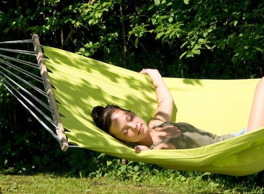 Hamac de jardin XL MIAMI Kiwi Vert 220x120cm AMAZONAS
