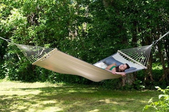 Hamac de jardin 2 places AMERICAN DREAM Écru 200x120cm AMAZONAS